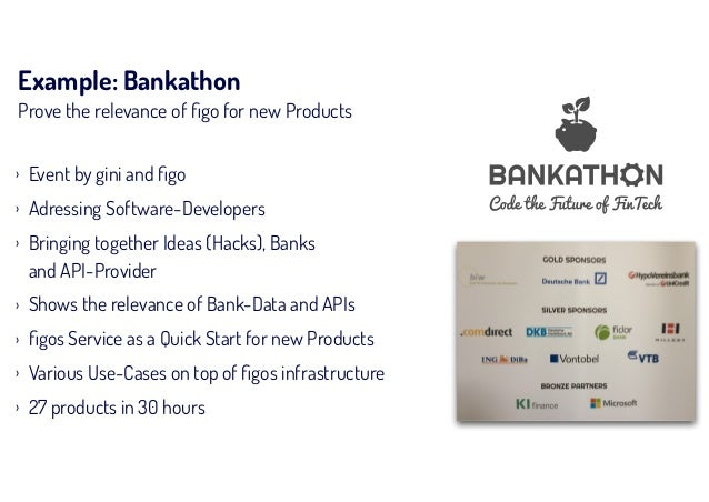 Example: Bankathon Prove the relevance of figo for new Products › Event by gini and figo › Adressing Software-Developers › B...