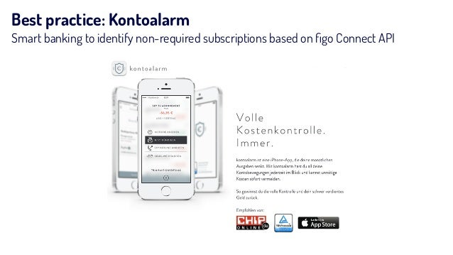Best practice: Kontoalarm Smart banking to identify non-required subscriptions based on figo Connect API