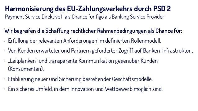 Harmonisierung des EU-Zahlungsverkehrs durch PSD 2 Payment Service Direktive II als Chance für figo als Banking Service Pro...