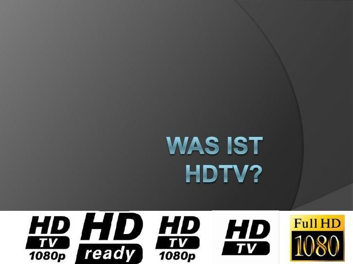 Was ist HDTV?<br />