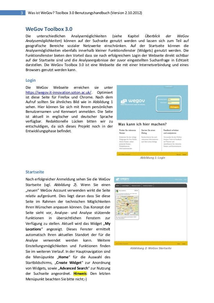 3    Was ist WeGov? Toolbox 3.0 Benutzungshandbuch (Version 2.10.2012)    WeGov Toolbox 3.0    Die unterschiedlichen Analy...