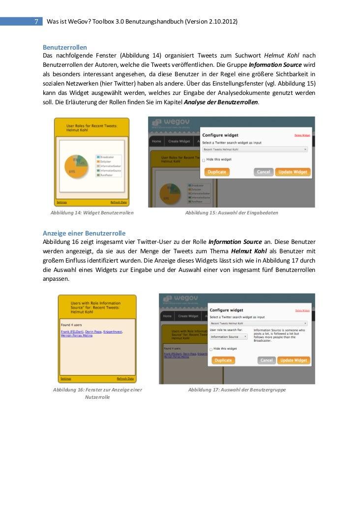 7    Was ist WeGov? Toolbox 3.0 Benutzungshandbuch (Version 2.10.2012)    Benutzerrollen    Das nachfolgende Fenster (Abbi...