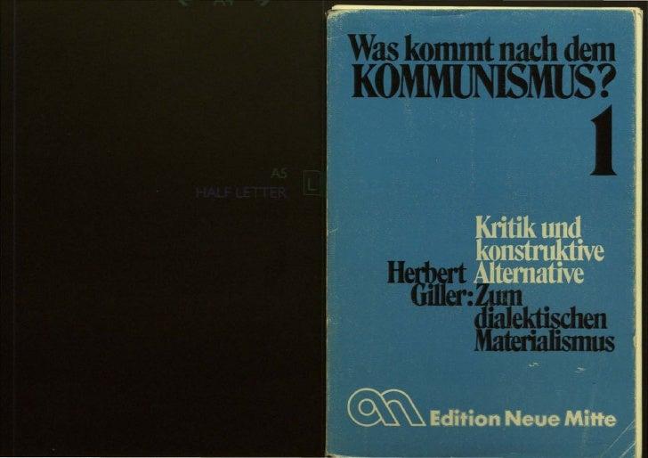 Was kommt nach dem Kommunismus