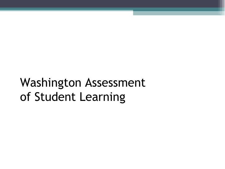 Washington Assessment of Student Learning