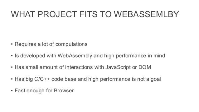 WebAssembly vs JavaScript: What is faster?