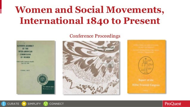 Women and Social Movements, International 1840 to Present Conference Proceedings