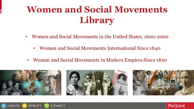 Women and Social Movements Library • Women and Social Movements in the United States, 1600-2000 • Women and Social Movemen...