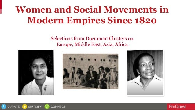 Women and Social Movements in Modern Empires Since 1820 Selections from Document Clusters on Europe, Middle East, Asia, Af...