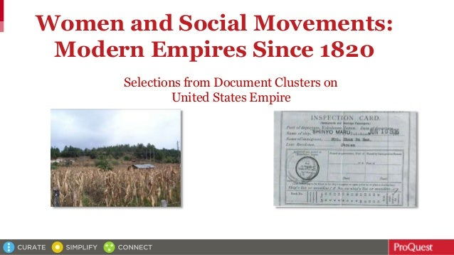 Women and Social Movements: Modern Empires Since 1820 Selections from Document Clusters on United States Empire