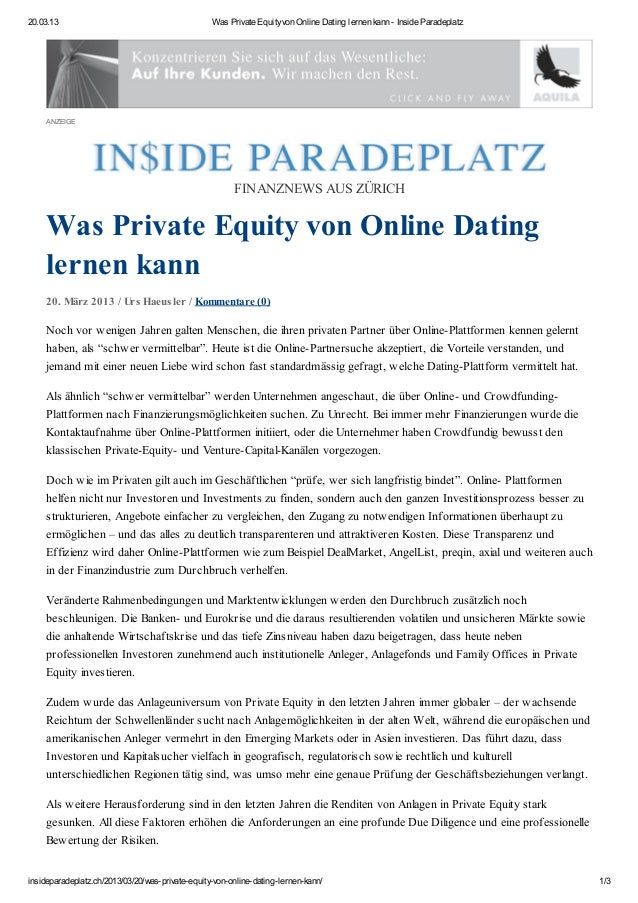 20.03.13                                          Was Private Equity von Online Dating lernen kann - Inside Paradeplatz   ...