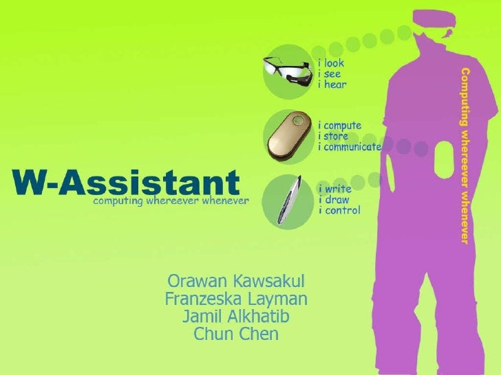 Wearable Assistant (Wassistant)