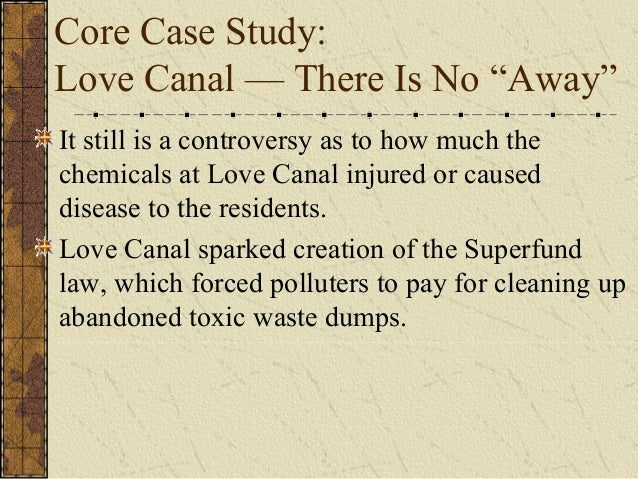 A Case Study Of Love Canal Environmental Sciences Essay