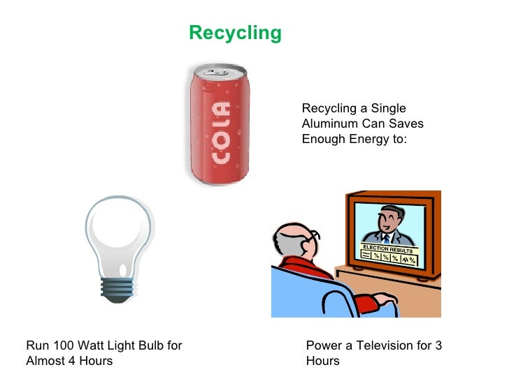 Think Of Each One As 100 Watt Light >> Waste & Recycling