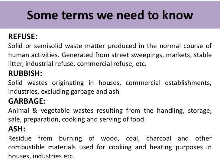 Waste disposal Slide 2