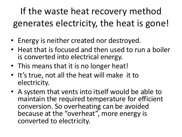 Choosing the best techniques for waste heat recovery