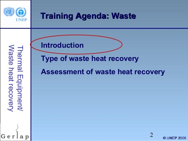 Waste heat recovery Slide 2