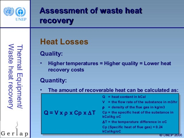 waste heat recovery Abstract many industrial, commercial, and institutional uses of energy result in excessive rates of waste heat rejection heat rejection is typically inherent in process uses however, it may be utilized to meet other needs recovering and reusing rejected heat is [.
