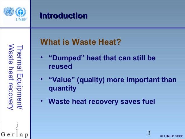 Waste heat recovery Slide 3