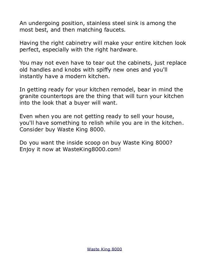 Waste King 8000 4