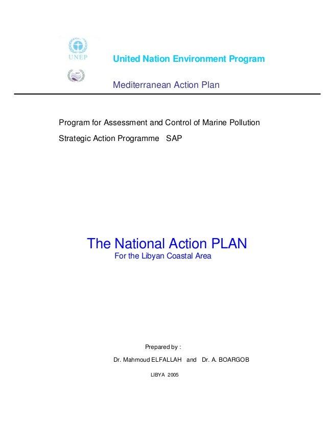 United Nation Environment Program              Mediterranean Action PlanProgram for Assessment and Control of Marine Pollu...