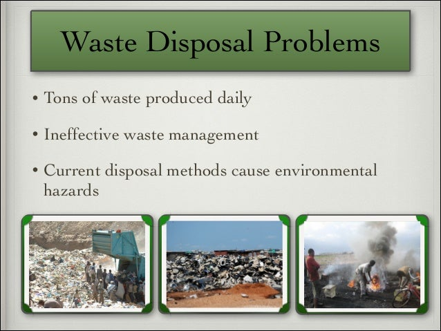 how to solve waste disposal problems