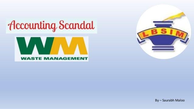 waste management fraud scandal