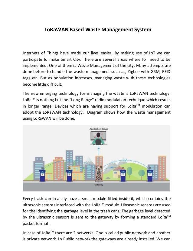 LoRaWAN Based Waste Management System