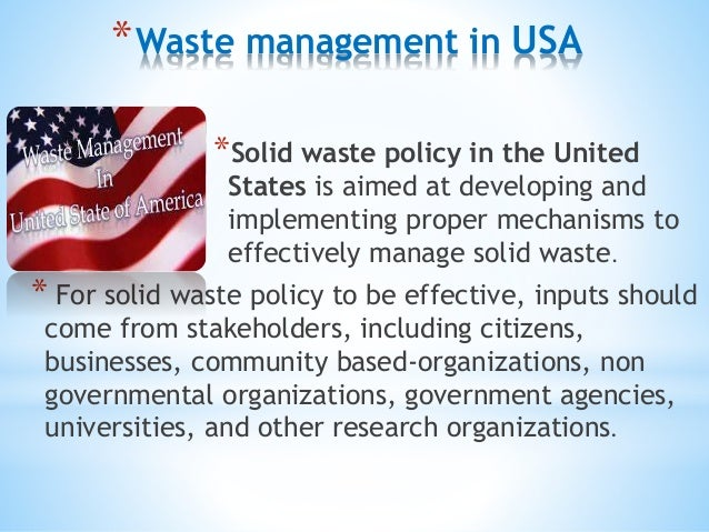 Waste management techniques in india, usa, and japan