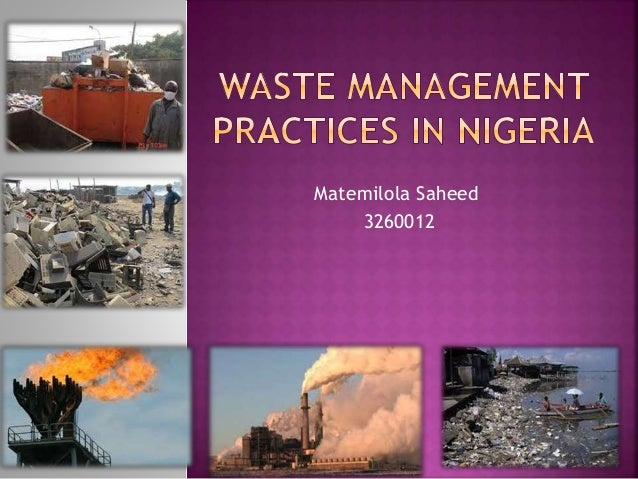 Background information about waste disposal practices