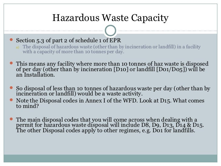 Non Hazardous Ct Regulated Wastes