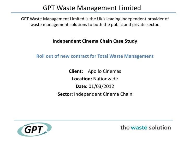 GPT Waste Management LimitedGPT Waste Management Limited is the UK's leading independent provider of    waste management s...
