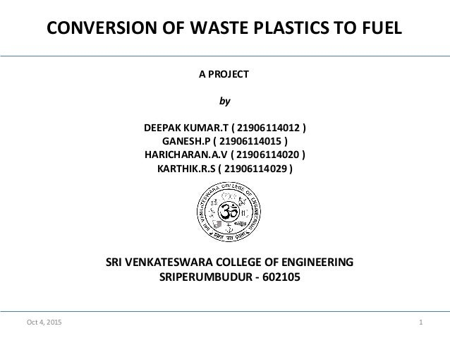 how to make plastic into fuel
