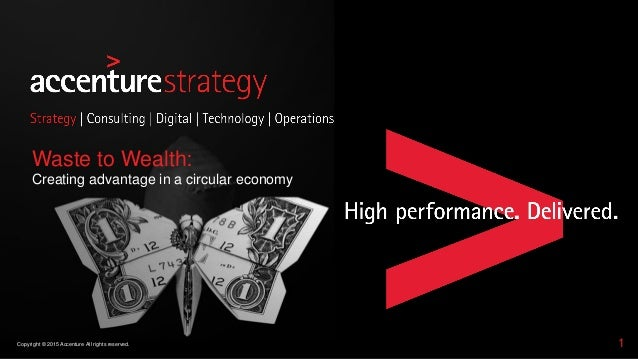 1Copyright © 2015 Accenture All rights reserved. Waste to Wealth: Creating advantage in a circular economy