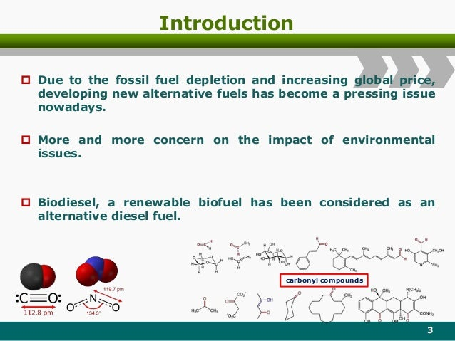 Introduction  Due to the fossil fuel depletion and increasing global price, developing new alternative fuels has become a...