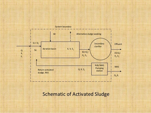System boundary                          Air                        Alternative sludge wasting     Q + Qr                 ...