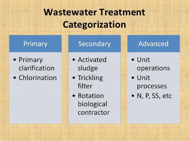 Wastewater Treatment   Categorization
