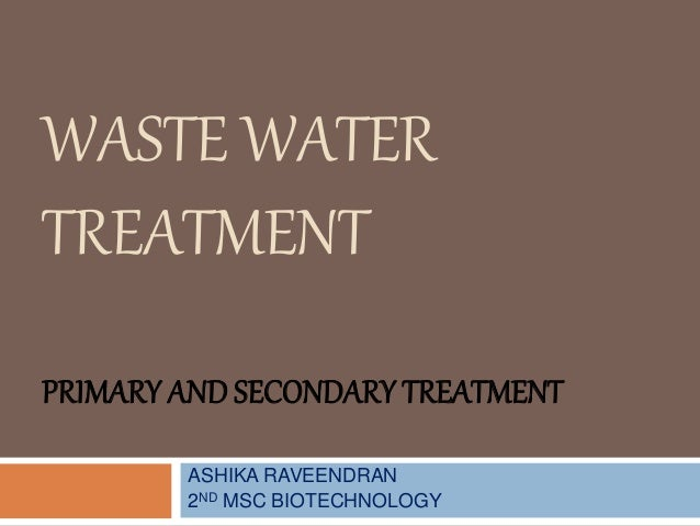 Waste Water Treatment Pptx Autosaved