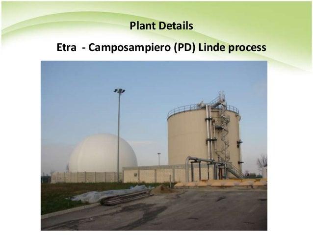 Plant Details Etra - Camposampiero (PD) Linde process