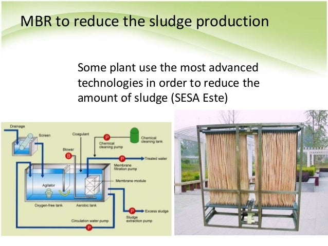 MBR to reduce the sludge production Some plant use the most advanced technologies in order to reduce the amount of sludge ...