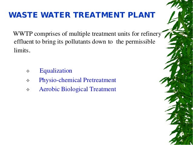 Oil Refinery Waste Water Treatment Plant