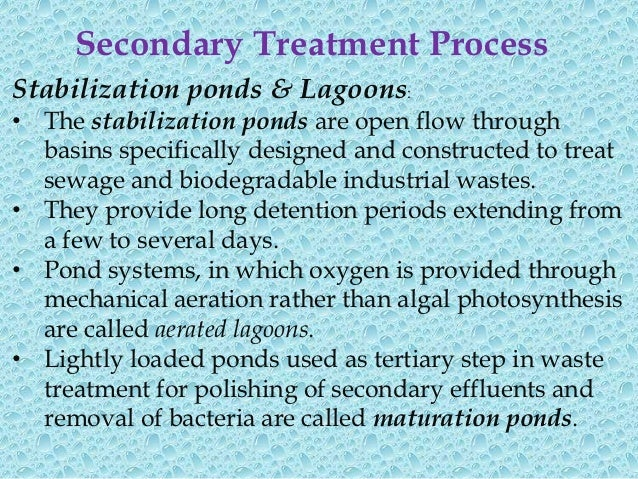 Activated sludge plantinvolves:• wastewater aeration in the presence of a  microbial suspension• solid-liquid separation f...