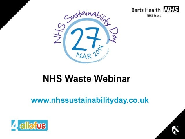 NHS Waste Webinar www.nhssustainabilityday.co.uk