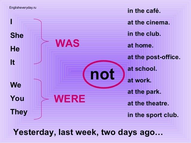 глаголы Was Were