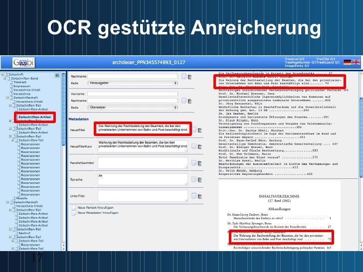 OCR gestützte Anreicherung