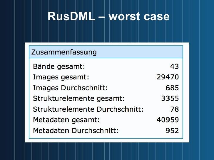 RusDML – worst case