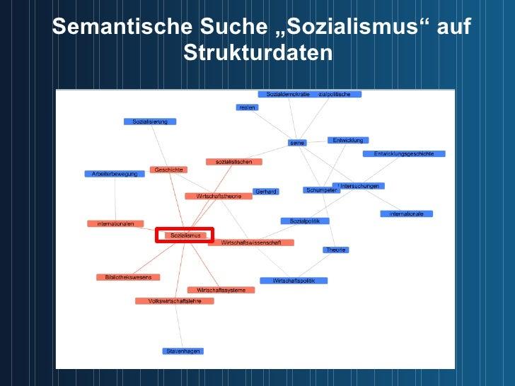 """Semantische Suche """"Sozialismus"""" auf Strukturdaten"""
