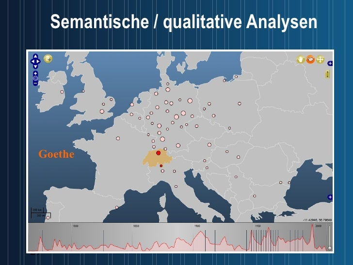 Semantische / qualitative Analysen Goethe