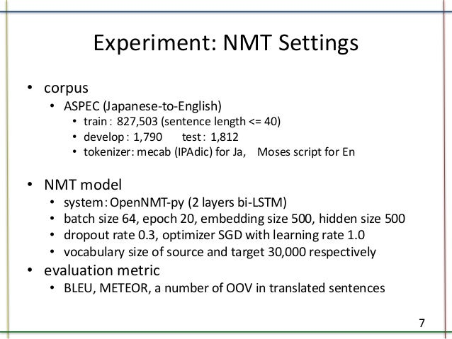 Improving Japanese-to-English Neural Machine Translation by