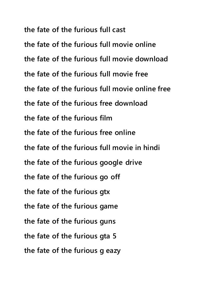 fate of the furious full movie hd online free