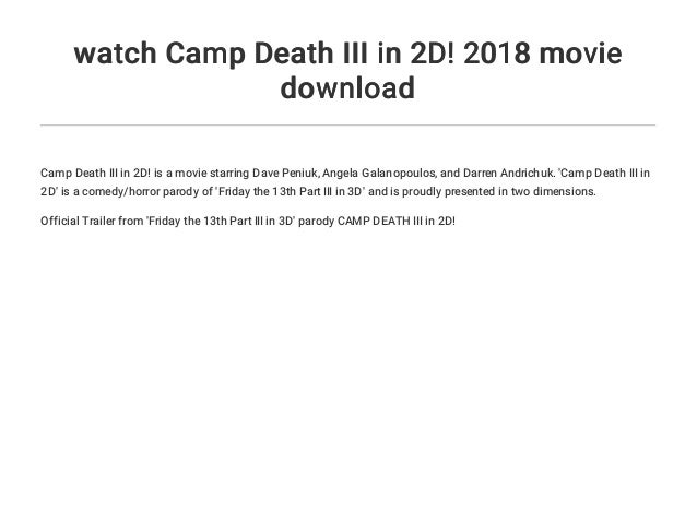 friday the 13th part 3 movie download